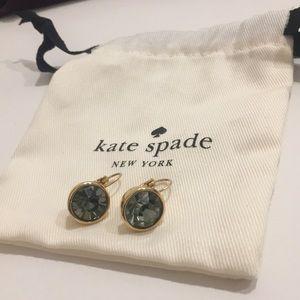 Kate spade dangle earrings shiny rhinestone gold
